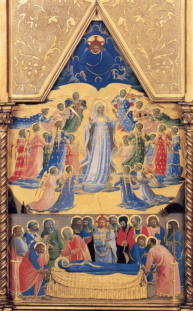 Assumption of the Blessed Virgin Mary dans immagini sacre Assumption%20Fra%20Angelico