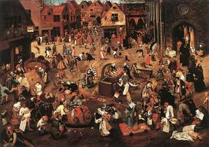 Battle of carnival & lent Brueghel.jpg