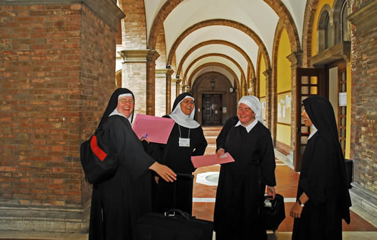 benedictine sisters meet to discuss the virtue of hope