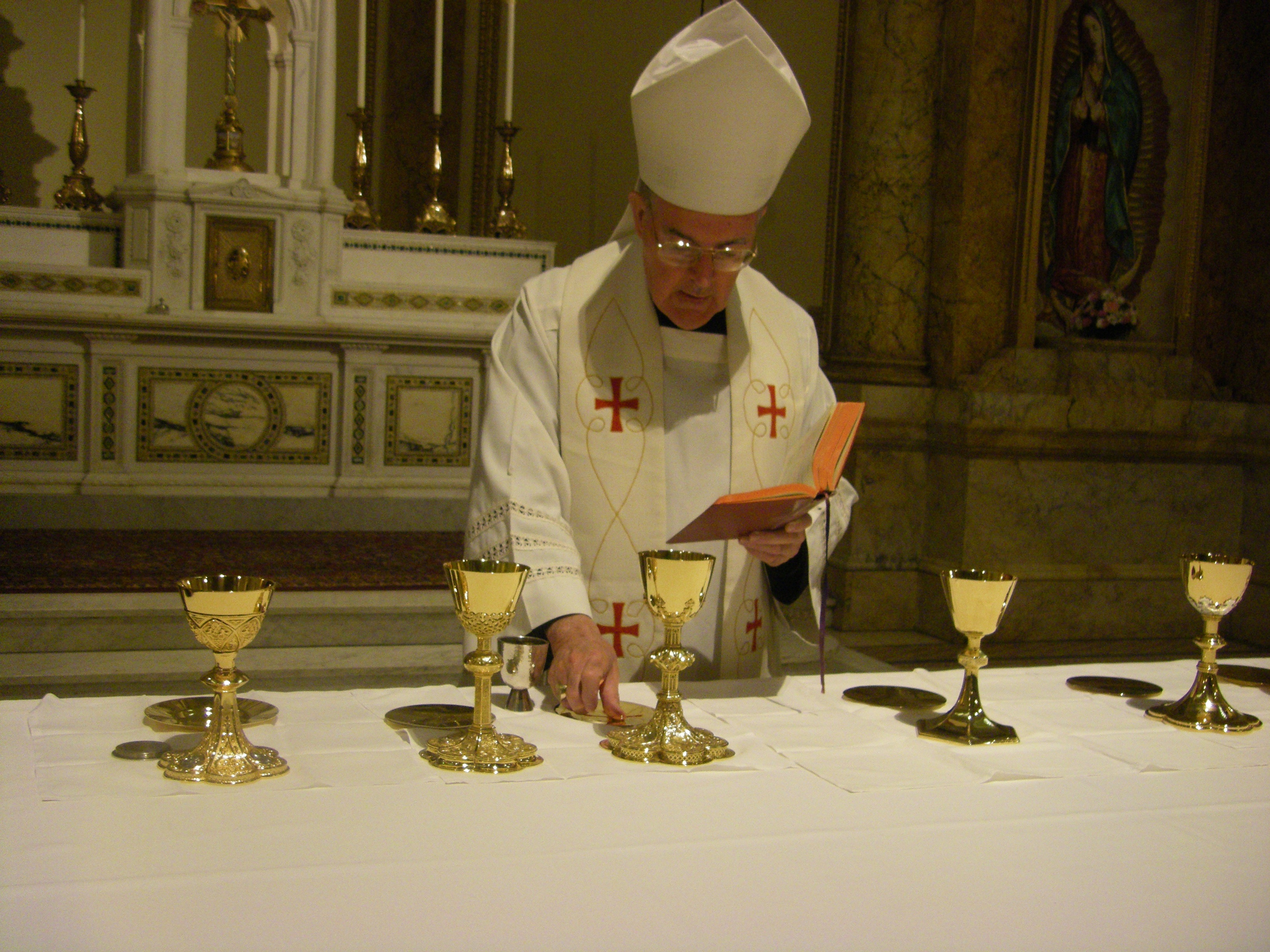 Consecration of a Paten and a Chalice at St Joseph's Seminary ...