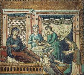 Nativity of Mary Pietro Cavallini.jpg