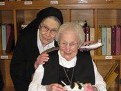 Sister Irmina 102 bday with Sister Denise.jpg