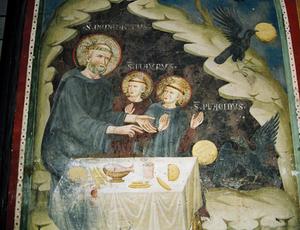 St Benedict cave fresco.jpg