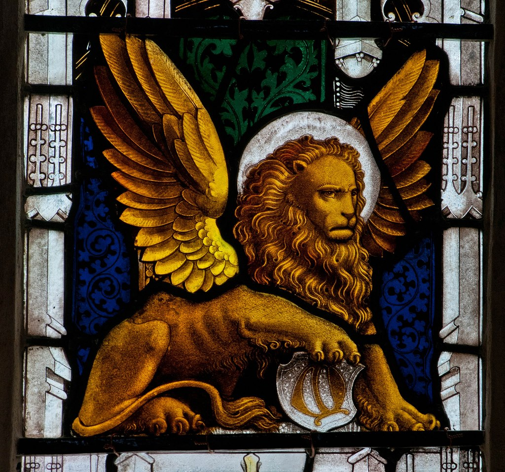 lion symbol of saint john from Symbols for the four gospels question from bob l on 10/15/2002: i have read in many places that the church traditionally assigns symbols taken from the book of revelation to the four gospels ie the man is matthew's gospel, the lion is mark's gospel, the ox or calf is luke's gospel, and the eagle is john's gospel.