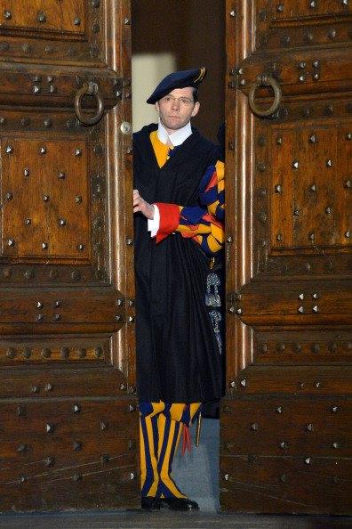 Swiss Guard at the Gandolfo door