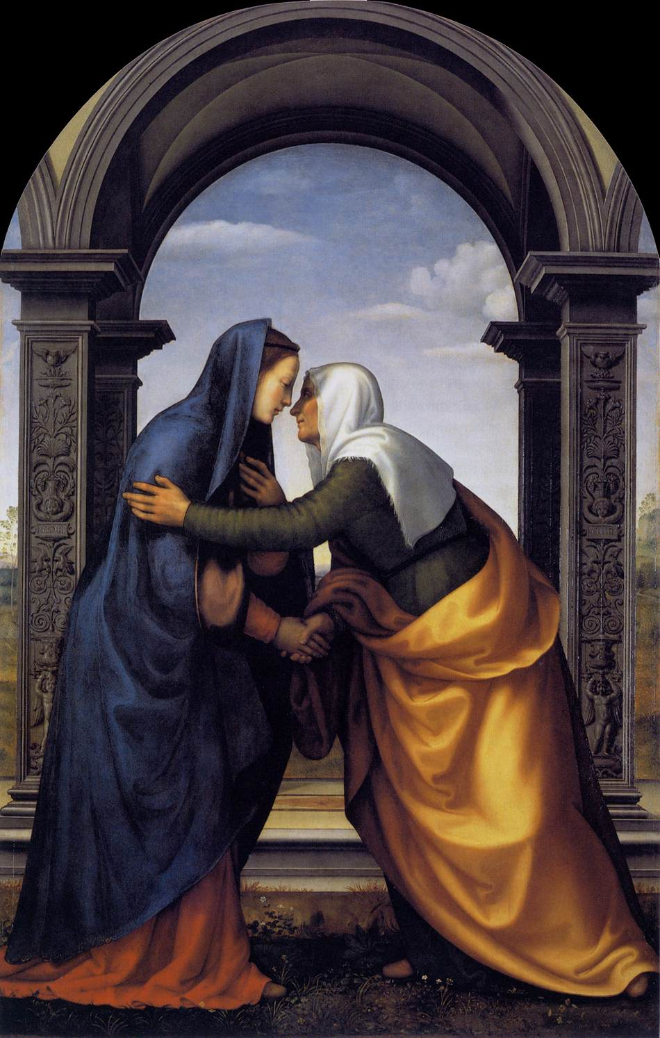 The Visitation of the Blessed Virgin Mary dans immagini sacre Visitation