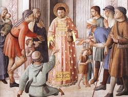 St Lawrence distrutes money to poor Fra Angelico.jpg