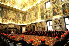 Benedict addresses Roman Curia 2009.jpg