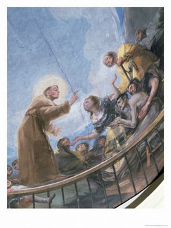 St Anthony Preaching  Detail from the Miracle of St Anthony of Padua  from the Cupola 1798.jpg