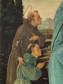 St Anthony praying to Madonna FLippi detail.jpg
