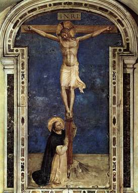 St Dominic at cross Fr Angelico.jpg