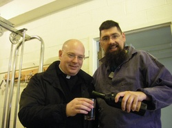 PAZ & fr Charles satisfying a thirst.jpg