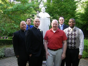 Thomas Roslak, RJ Aufieri and seminarians May 16 2010.jpg