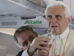 Pope answers questions on plane to Scotland.jpg
