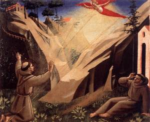 St Francis receiving the stigmata Fra Angelico.jpg