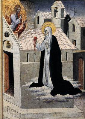 St Catherine Exchanging her heart with Christ PdiGiovanni.jpg