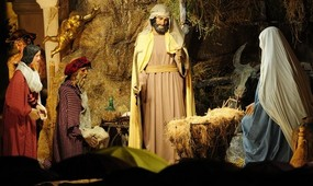 Nativity scene, St Peter's 2010.jpg