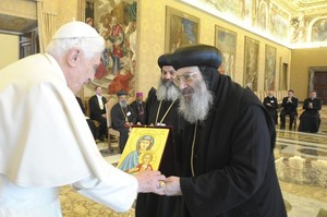 Pope with Oriental Orthodox bishops Jan 28 2011.jpg