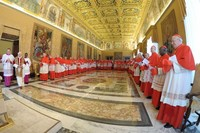 Consistory of Cardinals meet to canonize saints Feb 21 2011.jpg
