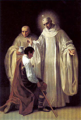 St Robert of Molesme welcomes Bernard.jpg