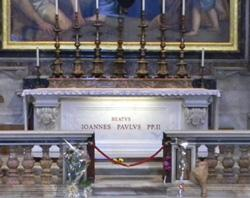 Bl John Paul II's new resting place.jpg