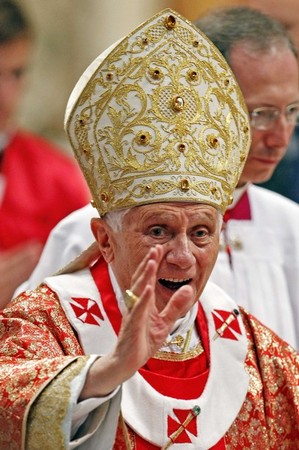 Benedict 16 following the Pentecost Liturgy 2011.jpg