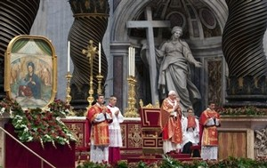 Pope at Pentecost Mass 2011.jpg