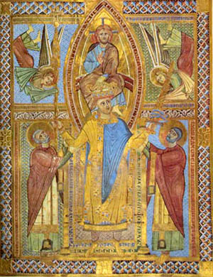 St Henry II crowned by Christ.jpg