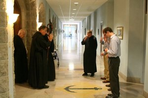 Abbot Barnabas blessings postulants 2011.jpg