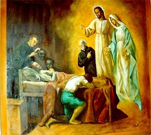St Peter Claver sees Jesus Christ and the Virgin before death.jpg