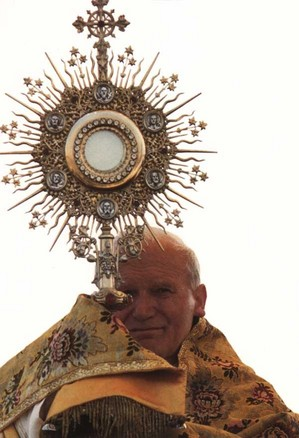 Pope John Paul II with Monstrance.jpg