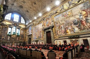 Benedict with the Roman Curia 2011.jpg