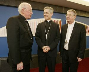 Crd Brady & Abp Martin welcome Abp Brown in Dublin.jpg