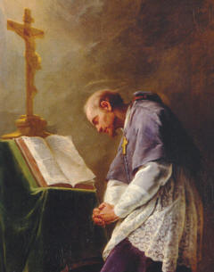 St Francis de Sales in prayer.jpg