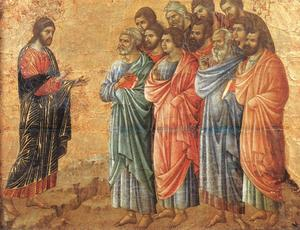 Jesus on Mt Galilee Duccio.jpg
