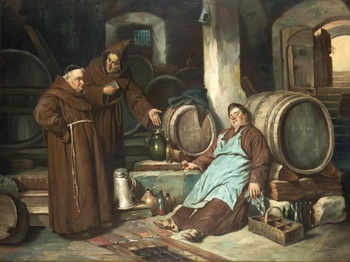 Friar loves the drink.jpg