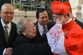 Cardinal Tagle with his Mom.jpg