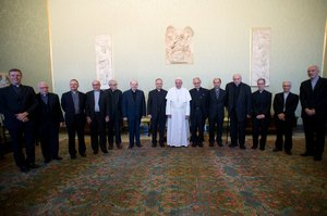 Francis with La Civilta Cattolica 2013.jpg
