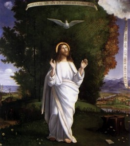 Transfiguration of the Lord with dove