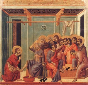 Duccio Washing the feet