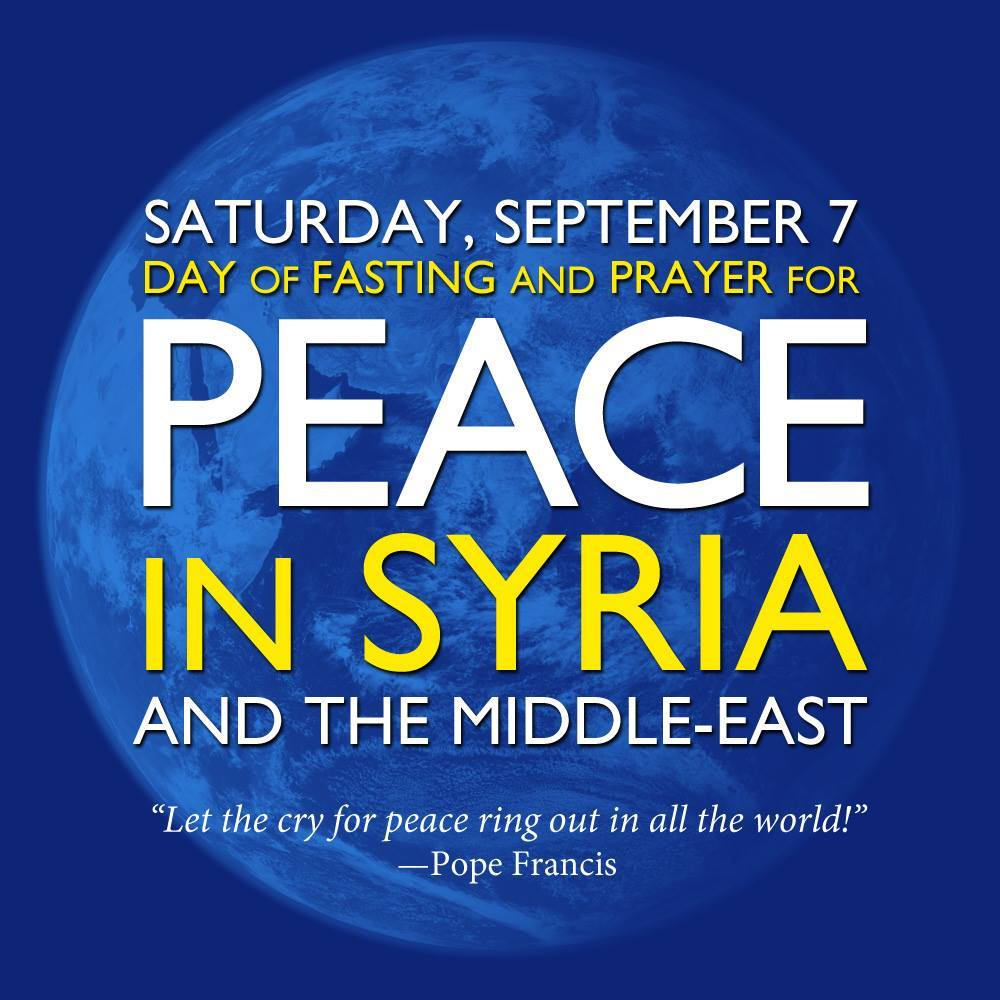 Prayer For Peace In Syria The Middle East And The World