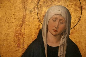 detail of sorrowful mother