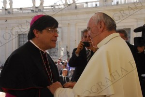 pope with new bishop