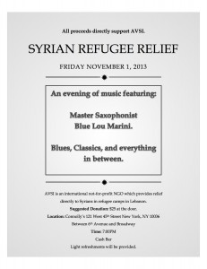 AVSI Benefit for Syrian Refugees