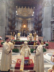 Sviatoslav offering Liturgy at St Peter's
