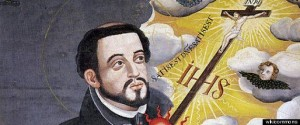 Francis Xavier with map
