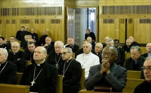 Francis and curia on lenten retreat