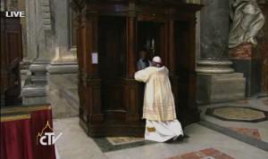 pope confesses