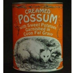creamed possum