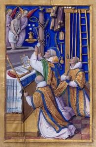 Misa de San Gregorio (cerca de 1500). Libro de Horas de Enrique VIII, Jean Poyer. Tours, Francia